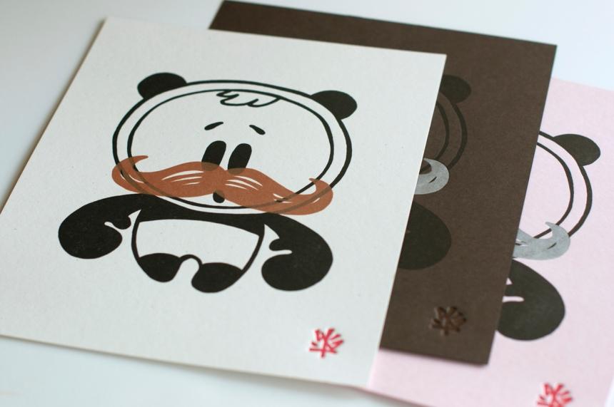 OhNo Letterpress Print